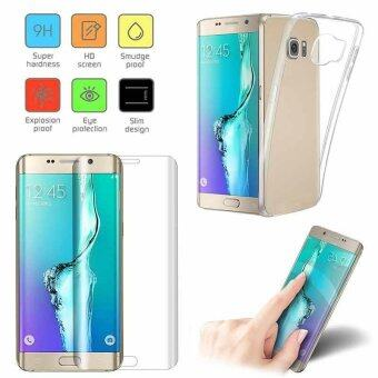 9H Tempered Glass Screen Film + TPU Back Case For Samsung Galaxy S6Edge Plus - intl