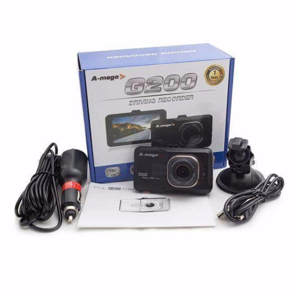 กล้องติดรถยนต์ A-mego G200 คุณภาพคมชัด