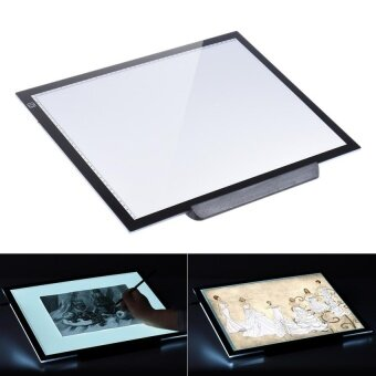 A3 47 * 37cm 21.4 inch LED Artist Stencil Board TattooDrawingTracing Table Display Light Box Pad LED Copy BoardIntelligentTouch Control 3 Adjustable Brightness Levels withMultifunctionHolder - intl
