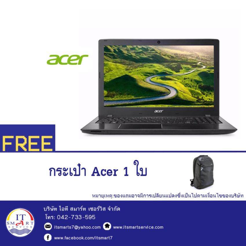 Acer Aspire E5-553G-14F8(NXGEQST008) AMD A12-9700P 2.5GHz8GB1TBAMD R7 M440 2GB15.6Linux (Black)  - แถมฟรีกระเป๋า Acer