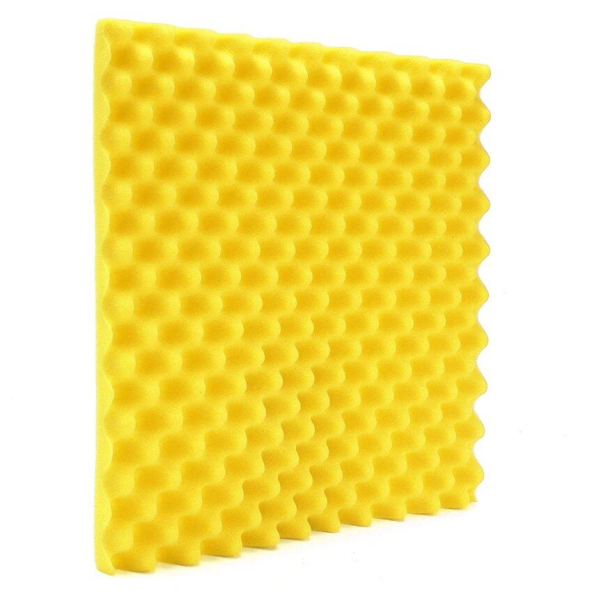 Acoustic Soundproof Sound Stop Absorption Studio Foam 500mmx500mmx50mm 1Pc Yellow - intl