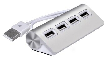 AD NK FASHION USB HUB, Premium 4 Port Aluminum USB Hub with 11 inchShielded Cable for iMac, MacBooks, PCs and Laptops - intl