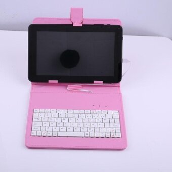 ADS 9.7\ Leather Stand Tablet Keyboard Protective Case Cover Holder With Micro USB - intl