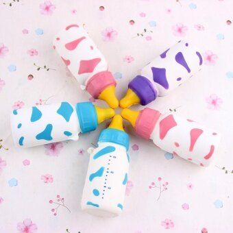 ADS New Soft Squishy Milk Bottle Rising Gift Cellphone Straps Charms Bag Keychian - intl