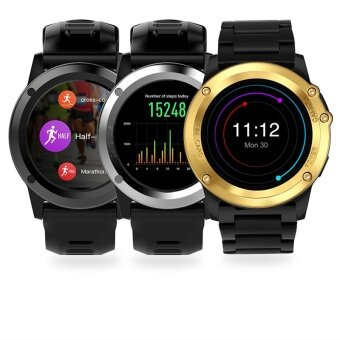 Aibot H1 Smart Watch MTK6572 IP68 Waterproof 1.39inch 400*400 GPSWifi 3G Heart Rate Monitor 4GB+512MB for Android IOS Camera 500W -intl - 4