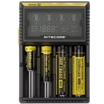 alithai NITECORE D4 LCD Screen Digicharger Charger For AA AAA 18650 14500 Battery (Black)