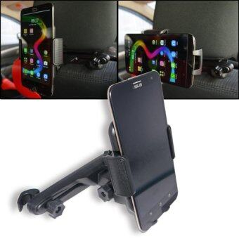 ALLY ที่จับโทรศัพท์มือถือ ตัวจับก้านเบาะ รถยนต์หลังที่นั่งรถ (จำนวน1ชุด)-สีดำ