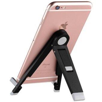 Aluminum Alloy Holder Stand For Tablet PC Adjustable And EasyCarryMobile Phone Stents Tablet Bracket (Color:Black)