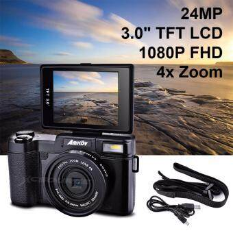 "Harga Amkov 24MP Digital Camera FHD 1080P Video 3"" LCD Camcorder with UVFilter LF766 - intl"