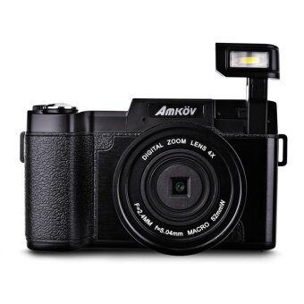 "Harga Amkov 24MP Digital FHD 1080P 3"" LCD Mirrorless Camera w/ UV Filter"