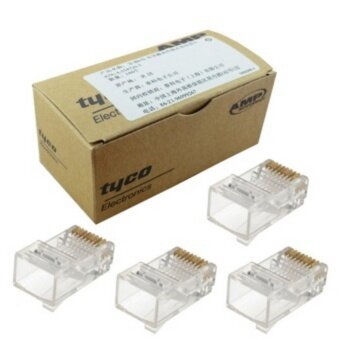 Harga AMP หัวแลน AMP Tyco Cat5e RJ45 Ethernet Network Modular ConnectorPlug