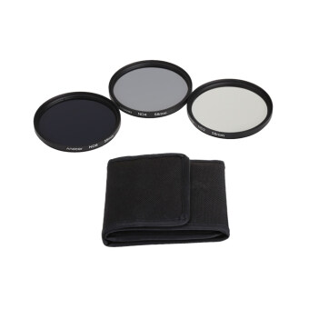 Andoer 58mm Fader ND Filter Kit Neutral Density Photography Filter Set (ND2 ND4 ND8) for Nikon Canon Rebel T5i T4i EOS 1100D 650D 600D DSLRs
