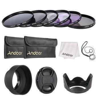 52mm UV FLD CPL Circular Polarizing Filter Kit Set Lens Hood For Canon Camera