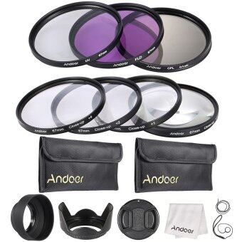 Andoer 67mm UV + CPL + FLD + Close-up(+1+2+4+10) Lens Filter Kit(Intl)