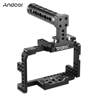 Andoer Protective Video Camera Cage Stabilizer Protector w/ Top Handle for Sony A7II A7RII A7SII A7S A7R A7 ILDC Mirrorless Camcorder - intl