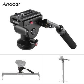 Andoer Video Camera Tripod Action Fluid Drag Pan Head HydraulicPanoramic Photographic Head for Canon Nikon Sony DSLR CameraCamcorder Shooting Filming - intl