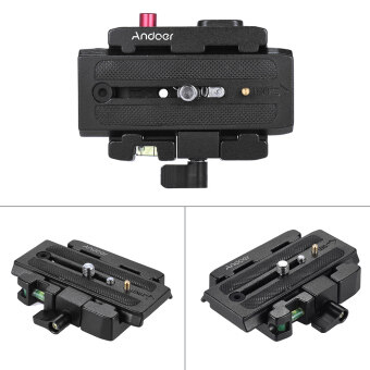 Andoer Video Camera Tripod Quick Release Clamp Adapter with QuickRelease Plate Compatible for Manfrotto 501 500AH 701HDV 503HDV Q5Head Outdoorfree - intl