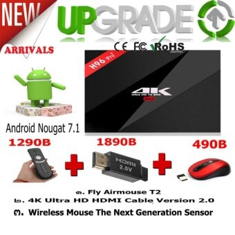 Android Box Pro Gift For ALL Newest H96 Pro Plus Android 7.1 NougatOs Superb Performance 3/32GB Smart Media Player Android TV Box WithCE FC And RoHS Standard