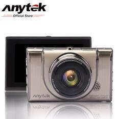 "Anytek กล้องหน้าติดรถยนต์ รุ่น A100+ Car DVR Camera Recorder 3"" เมนูไทย / WDR / 170 Wide / Full HD 1080P (ฟรี kingston 16GB sd card)"