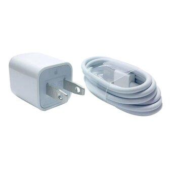 โปรโมชั่นพิเศษ Apple Adaptor+cable set ใช้สำหรับiPhone/iPod USB charger+2M cableset สายชาร์จไอโฟน(White)