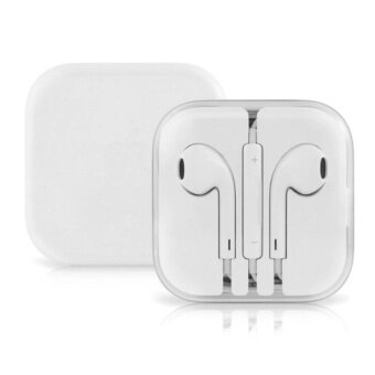 Apple White Earphones For iPhone6/6plus Earphones หูฟังไอโฟน iPhone5/5s iPad/iPod Earphone with Microphone