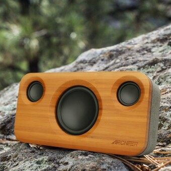ARCHEER (A320) Bamboo Wood 25W Super Bass Subwoofer Bluetooth Speaker 5200mAh - intl
