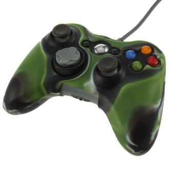 Harga Army Camouflage Silicone Cover Case Skin For Xbox 360 WirelessController