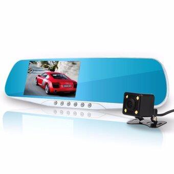 Astro กล้องรถยนต์ รูปทรงกระจกมองหลัง พร้อมกล้องถอยหลัง รุ่น X20Full HD 1080P มีไฟ LED หน้าหลัง