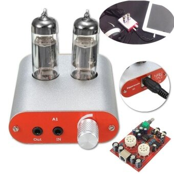 Harga Audio Mini 6J5 Vacuum Tube Headphone Amplifier Stereo HiFi Hybrid Earphone Amp - intl