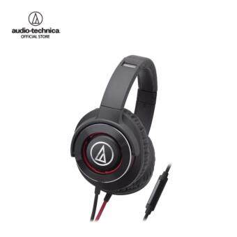 Audio Technica Solid Bass Headphones W/Remote mic for Iphone & Smartphone รุ่น ATH WS770iS Black/Red