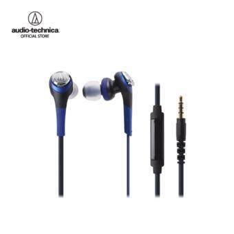 Audio Technica Solid Bass - Inner Earphone W/Remote & Mic forIphone & Smartphone รุ่น ATH CKS550iS Blue