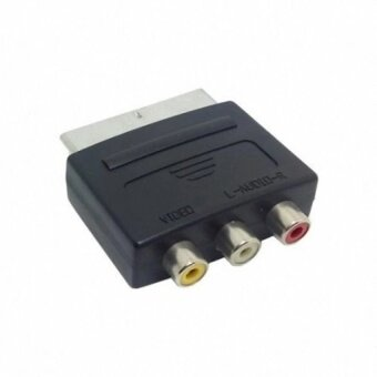 Audio Video Composite 3 RCA AV to Scart 21pin Adapter for MicrosoftXbox & Europe HDTV   - intl