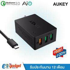 THB 537. Aukey 3-Port USB Desktop Charging Station Wall Charger with Qualcomm Quick ...