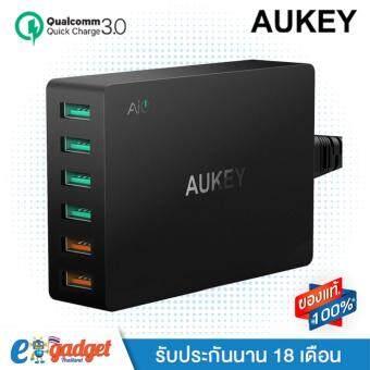 Aukey QC3.0 มี 6 ช่องชาร์จ (2 ช่อง Quick Charge 3.0+ 4 AI PowerPorts) Charger Station ที่ชาร์จมือถือ ที่ชาร์จโน๊ตบุ๊ค มี6ช่องชาร์จ, 2ช่องชาร์จ QuickCharge 3.0 USB และ 4 ช่องชาร์จเร็ว AIPower สำหรับมือถือรุ่นล่าสุด PA-T11 (สีดำ)