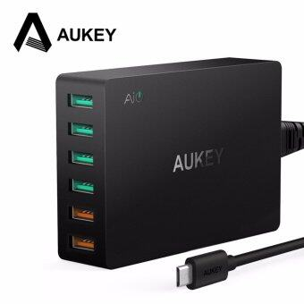 AUKEY Quick Charge 3.0 6-Port USB Travel Quick Charger Universal Charger for Samsung Galaxy S7/S6/Edge - intl