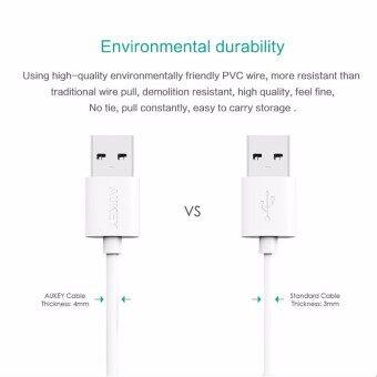 Aukey สายชาร์จ/ซิงค์ USB 2.0 Data Sync Charge Cable ยาว 1.2 เมตร[Pack 3 เส้น] สีดำ (image 2)