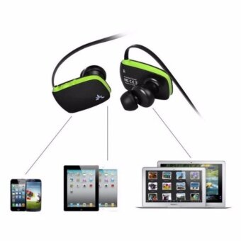 Avantree Bluetooth Sport Stereo Headset หูฟังบลูทูธ 4.0 พร้อมไมโครโฟน ตัดเสียงรบกวนรอบข้าง ปรับเสียง เปลี่ยนเพลงได้ เบสหนัก ป้องกันเหงื่อและละอองน้ำ เชื่อมต่อได้ 2 อุปกรณ์พร้อมกัน รุ่น Sacool (สีดำ/เขียว) / ฟรี เลนส์เสริม สำหรับสมาร์ทโฟน มูลค่า 149.- (image 1)