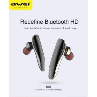 Harga Awei N1 earphone Unilateral Multipoint Connection Wireless Bluetooth Headset In-Ear Car Bluetooth Handsfree Earphone Fone de ouvido Auriculares - intl
