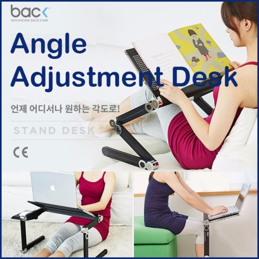 Back Korea Back Angle Adjustment Desk Laptop Stand - intl
