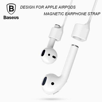 Baseus Magnetic Strap Bluetooth Silicone Anti Lost Strap LoopString Rope for Air Pods Headset - intl