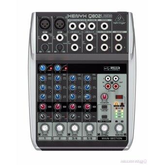 Behringer : XENYX-Q802USB (มิกเซอร์ ขนาด 8 Input พร้อม USB/Audio Interface)