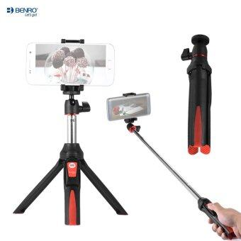Benro MK10 Handheld Extendable Mini Tripod Selfie Stick with Bluetooth Remote Control Shutter for IOS iPhone 5s/6s/6s Plus & Android Smartphone Cellphone for Gopro Outdoorfree - intl