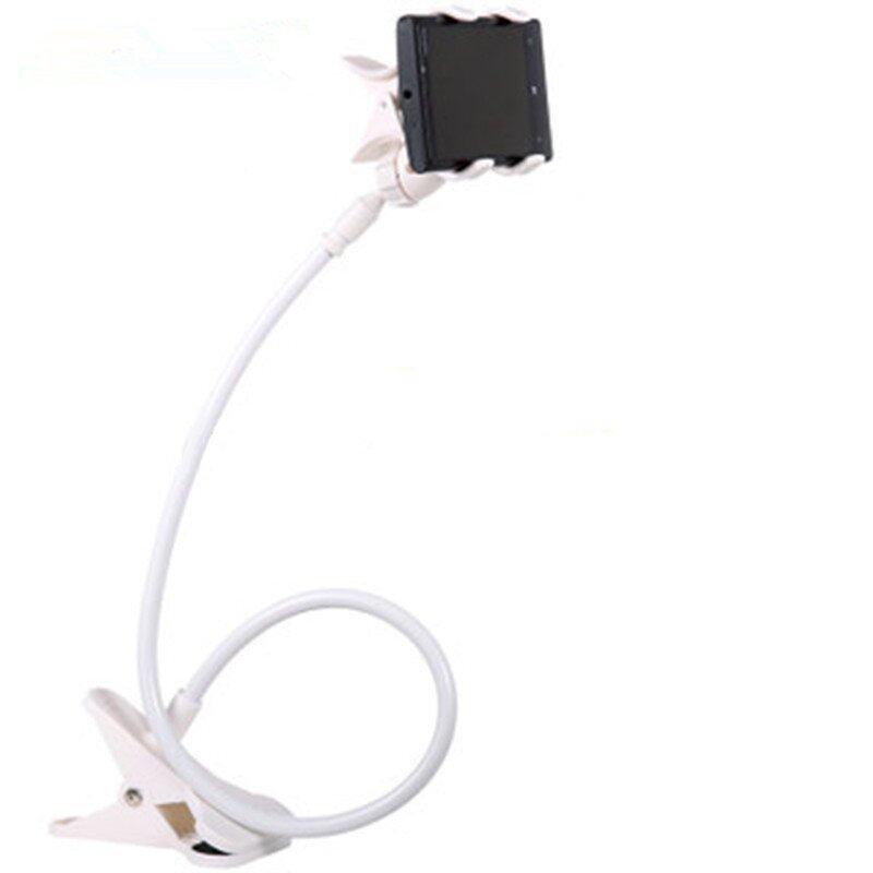 Best 360° Flexible Long Phone Holder Lazy Style ขาจับมือถือ ที่หนีบสมาร์โฟน แท่นวางไอโฟน แบบตั้งโต๊ะ - White
