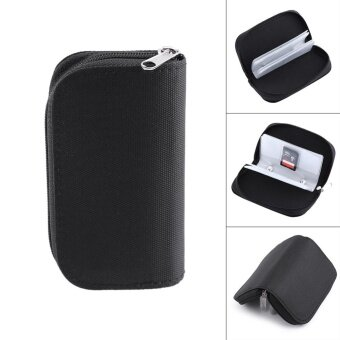Black Nylon Memory Card Storage Carrying Pouch Case For CF/SD/SM/SD/SDHC Card - intl