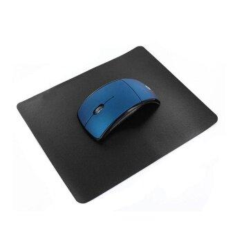 Black Slim Thin Comfortable Optical Mouse PAD Anti-Slip Game PCComputer – intl