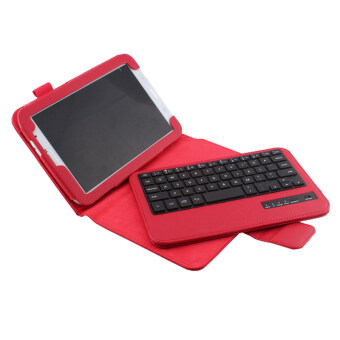 Bluesky Ultra-thin Aluminum Wireless Bluetooth Qwerty KeyboardLeather Case Stand For Samsung Galaxy Note 8.0 N5100 N5110 N5113,Red - Intl