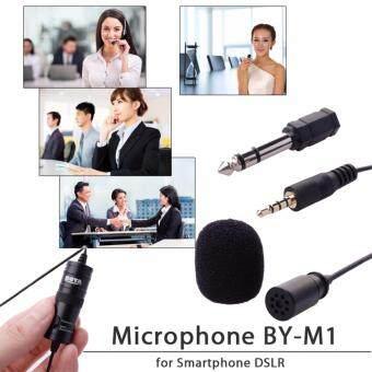 ไมโครโฟน BOYA Lavalier Microphone BY-M1 สำหรับ สมาร์ทโฟน iphone 5S 6 Plus DSLR Nikon (สีดำ)