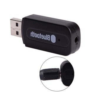 Harga บลูทูธมิวสิค BT-163 USB Bluetooth Audio Music Wireless Receiver Adapter 3.5mm Stereo Audio