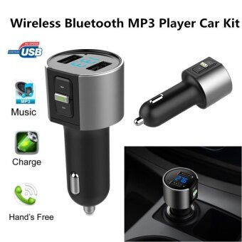 C26S Wireless Car Bluetooth Hands-free Music Player FM Transmitter with Dual USB Port 5V 3.4A