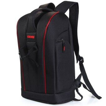 Caden K6 Nylon Camera Backpack Bag Case Gadget Bag with Tablet PC Pocket for Canon Nikon Sony DSLR Camera Camcorder - Intl